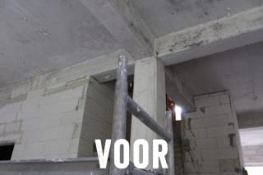 Fijnstralen van beton